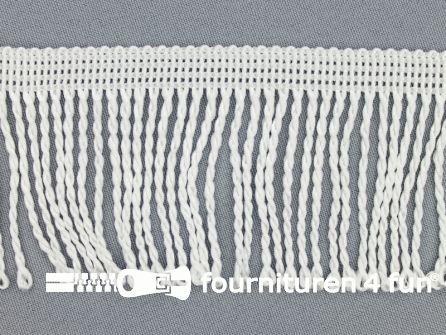Nylon franje 60mm wit