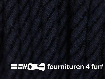 Katoenen meubel koord 5mm donker blauw