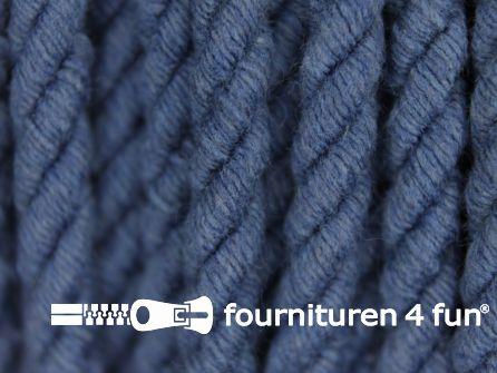 Katoenen meubel koord 5mm jeans blauw