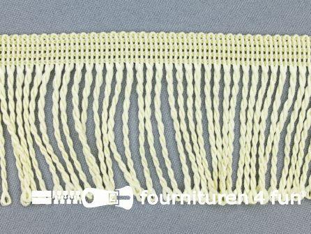 Nylon franje 60mm ecru geel