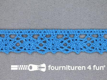 Ibiza broderie 15mm aqua blauw