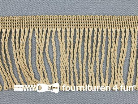 Nylon franje 60mm beige