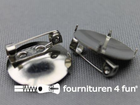 Corsage spelden 19mm rond zonder gaatjes
