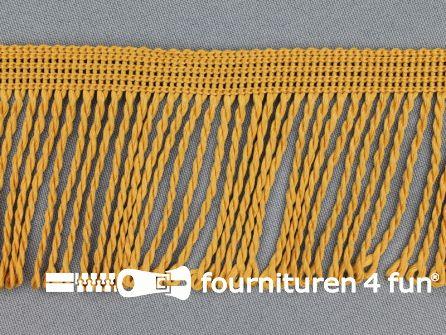 Nylon franje 60mm oker goud