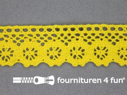 Ibiza broderie 23mm geel