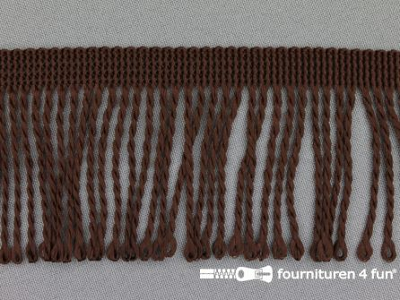 Nylon franje 60mm donker bruin