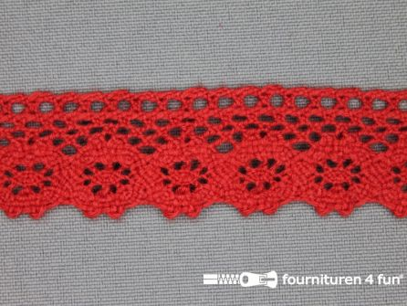 Ibiza broderie 23mm rood