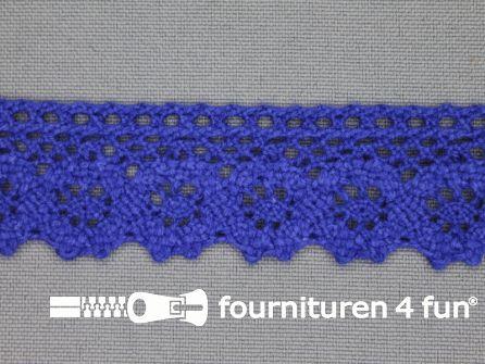 Ibiza broderie 23mm kobalt blauw