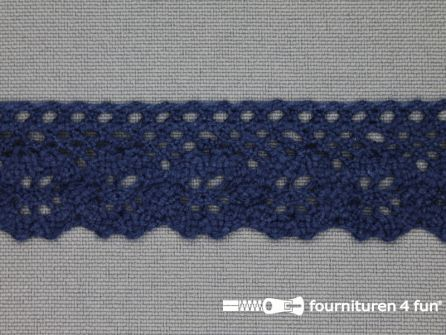 Ibiza broderie 23mm donker blauw