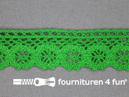 Ibiza broderie 23mm gras groen