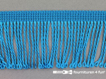 Nylon franje 60mm aqua blauw