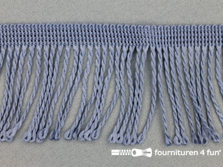 Nylon franje 60mm staal-grijs