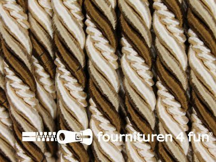 Multicolor meubelkoord 10mm beige - bruin