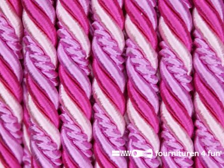 Multicolor meubelkoord 10mm fuchsia - roze