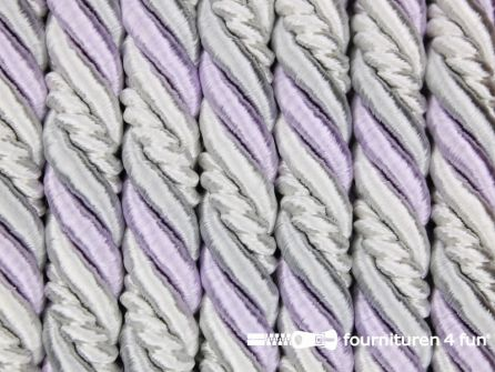 Multicolor meubelkoord 10mm lila - grijs