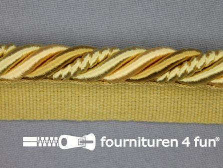Gedraaid multicolor paspelband 23mm goud - geel