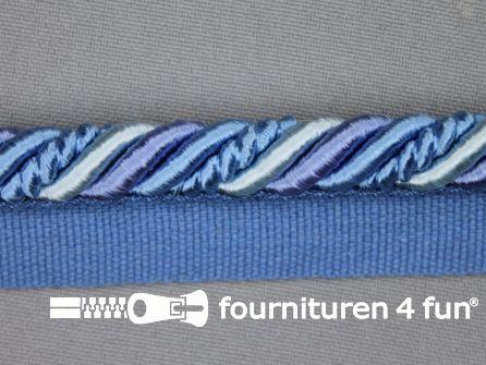 Gedraaid multicolor paspelband 23mm blauw