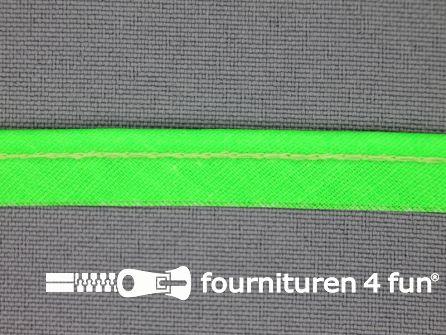 Katoenen paspelband 10mm neon groen