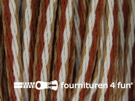 Jassen koord 3mm bruin - camel - beige