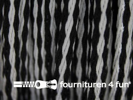 Jassen koord 3mm zwart grijs