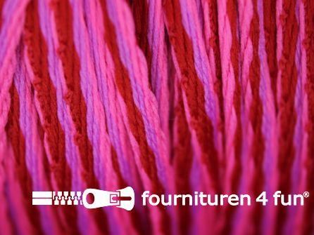 Jassen koord 3mm fuchsia - rood