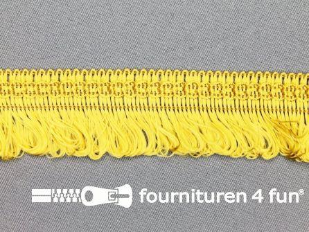 COUPON 4 stukken, totaal 19,1 meter (4,7+10+13+1,4 meter) Viscose franje 30mm goud geel