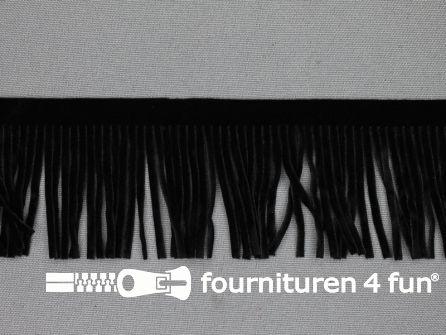 Western franje 50mm zwart