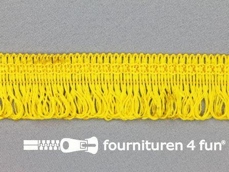 Viscose franje 30mm fel geel