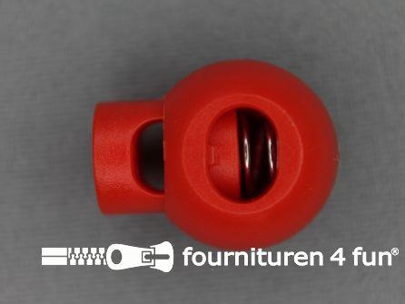 Koord stopper 22mm bal rood