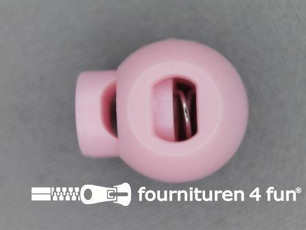 Koord stopper 18mm bal licht roze