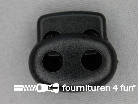 Koord stopper 20mm dubbel zwart