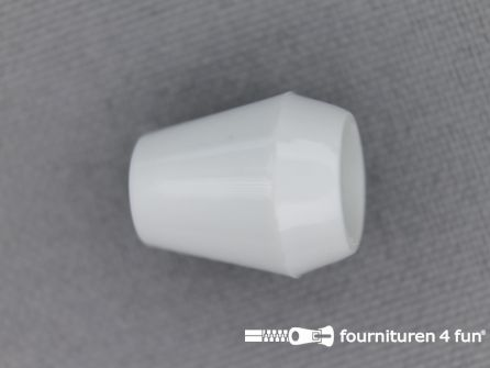 Kunststof koord uiteinde 12x14mm wit