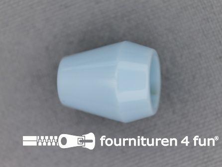Kunststof koord uiteinde 12x14mm licht blauw