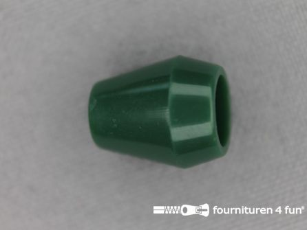 Kunststof koord uiteinde 12x14mm flessen groen