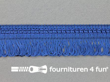 Viscose franje 30mm kobalt blauw