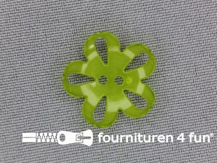Bloemen knoop 20mm lime groen