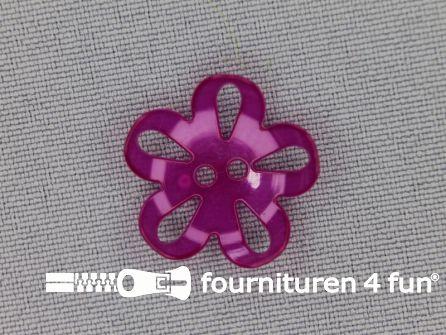 Bloemen knoop 20mm fuchsia