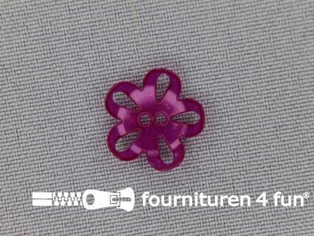 Bloemen knoop 15mm fuchsia