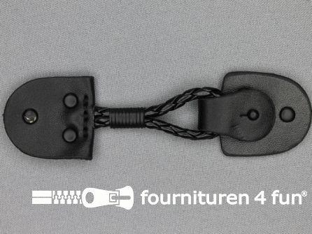 Siersluiting leer 126x34mm zwart