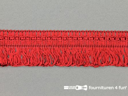 Viscose franje 30mm bordeaux rood