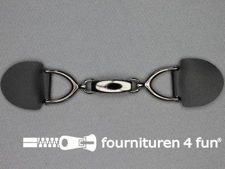 Siersluiting leer 163x35mm zwart - zilver