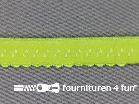 Luxe elastische biasband 12mm lime-groen
