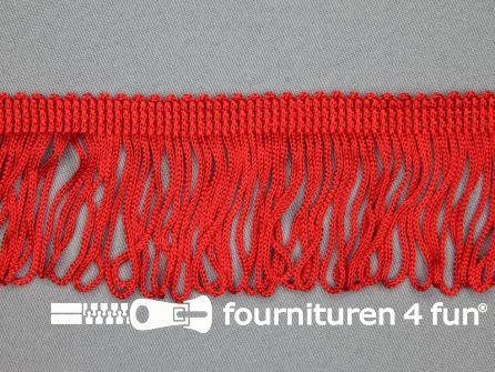 Charleston franje 45mm rood