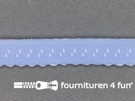 Luxe elastische biasband 12mm licht blauw
