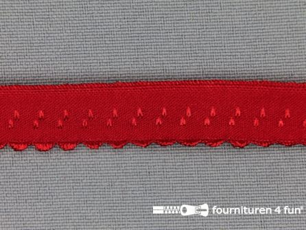 Luxe elastische biasband 12mm rood
