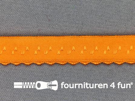 Luxe elastische biasband 12mm oranje