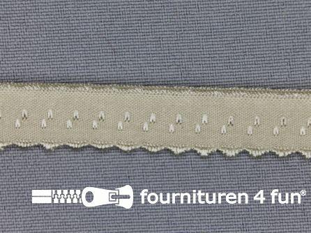 Luxe elastische biasband 12mm zand