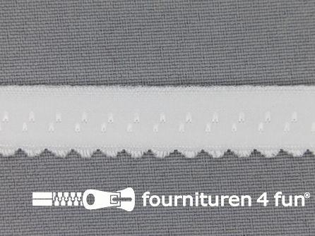 Luxe elastische biasband 12mm off white