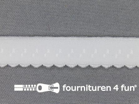 Luxe elastische biasband 12mm wit