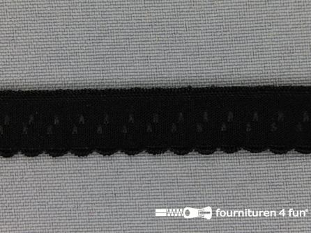 Luxe elastische biasband 12mm zwart
